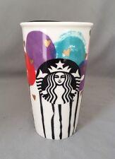 Starbucks Valentine Balloon & Gold Heart Ceramic Travel Cup 12 Oz. 2016! NWT!