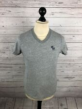 ABERROMBIE & FITCH T-Shirt - Small - Grey - Great Condition - Men's
