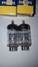PHILIPS ECC81 12AT7 Pair Nos Mib Unused Matched  Same Code Test-nice