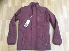 MENS CROSSHATCH QUILTED PADDED WINTER FASHION JACKET / COAT RED SIZE S
