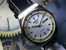 Vintage SEIKO 5 Automatic Movement Mens Analog Day Date Dial Wrist Watch RA18