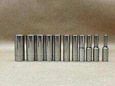 Blue Point By Snap On 14drive Deepmetric Sockets Set Of 11pcs 4 14mm Blplsm144
