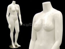 Female Mature Plus Size Headless mannequin with high heel feet #Nancybw2S-Md