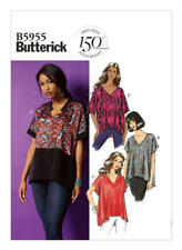 f6b7e5f4 Butterick Sewing Pattern 5955 Misses Plus SZ 16-26 Easy V-Neck Pullover Tops