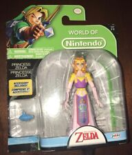 "World of Nintendo Princess Zelda W/ Ocarina 4"" Action Figure Legend of Zelda NEW"