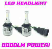 H1R1 9012 COB LED Headlight Bulbs 8000lm Canbus 100W For Vauxhall Insignia 12-