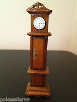 Wooden Doll House Grandfather Clock Miniature Mini Dollhouse Furniture