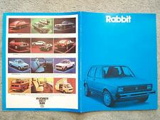 1980 VOLKSWAGEN RABBIT BROCHURE