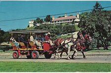Vintage POSTCARD c1965 Carriage MACKINAC ISLAND, MI