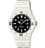 Casio LRW200H-1E Women's White Resin Band Black Dial 100M Sports Analog Watch