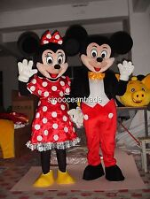 Mickey Mouse and Minnie Mouse Adults Mascot Costumes Fancy Dress Outfits UK