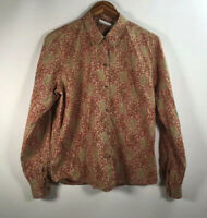 Liz Clairbone Women's Size M Long Sleeve Shirt Button Down Floral/Paisley Top