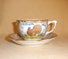 Maruta Ware Wild Turkey Cup & Saucer - Made in Japan