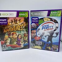 Xbox 360 Kinect Lot Of 2 Games kinect adventures & Game Party complete