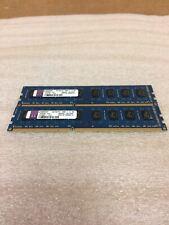 Kingston 8GB (2x4GB) PC3-10600 DDR3 1333MHz 2Rx8 Blue Memory RAM Kp382h-hyc NICE