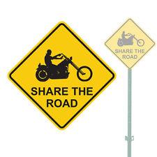 """SHARE THE ROAD HEAVY DUTY ALUMINUM SIGN 11"""" x 11"""""""