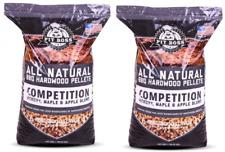 Pit Boss Competition Blend BBQ Pellets 40 Lb Resealable Bag 100% Natural (2Pack)