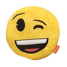 Producto con licencia oficial Almohada Cojín Wink Smiley divertido Emoji Iphone Suave Regalo