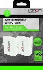Microsoft Xbox One S X Compatible Rechargeable Controller Battery Twin Pack Set