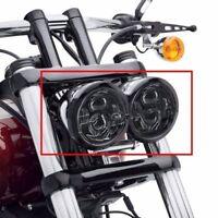 "4.65"" Inch Twin Dual Daymaker LED Headlight For Harley Davidson Fat Bob Headlamp"
