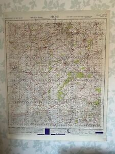 1947 Military System Map of Frome War Office Edition Somerset Shepton Mallet