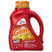 Gain Liquid Laundry Detergent, Apple Mango Tango 50 oz (Pack of 2)