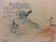 Jean Arene 1929-...  Provence camargue tauromachie corrida taureau toréador