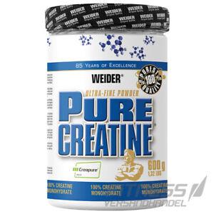 (42,48€/kg) Weider Pure Creatin 100% Kreatin Monohydrat Pulver, 600g Dose