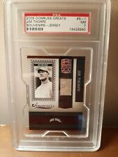 2005 Donruss Greats Souvenirs - Jim Thorpe (Game Used Jersey) (PSA 7)