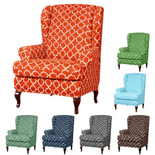 Elastic Slipcovers Armchair Wingback Wing Chair Cover Fit Furniture Protector