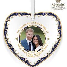 Prince Harry & Meghan Markle Royal Wedding China Heart Plaque