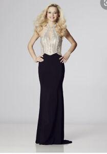 Tiffanys Marlena,Beaded Top And Black Bottom Long Evening Dress Prom Size 6 BNWT
