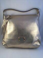 New Michael Kors Chandler Pale Gold Leather Medium Shoulder Tote Bag Handbag