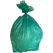 PlasticMill 12-16 Gallon, Green, 1 Mil, 24x31, 250 Bags/Case, Garbage Bags.