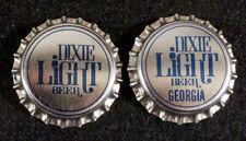 2 DIXIE LIGHT (GEORGIA TAX) PLASTIC BEER BOTTLE CAP NEW ORLEANS LOUISIANA CROWNS
