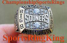 1985 OKLAHOMA SOONERS OU NCAA BIG 8 BASKETBALL CHAMPIONSHIP 10K GOLD RING  RARE