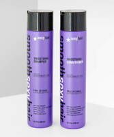 SEXYHAIR Smooth Smoothing Anti Frizz Shampoo & Conditioner with Coconut Oil 10.1