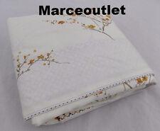 Yves Delorme Paris Tokaido Cotton Sateen QUEEN Flat Sheet Ivory Floral