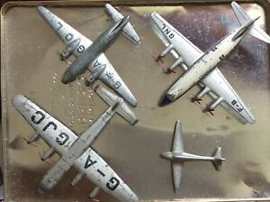 Dinky Toys Early Vintage Aeroplanes YORK VIKING VICOUNT  + 1