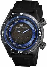 New Mens TechnoMarine TM 218008 Automatic Black Rubber Strap 47mm Watch