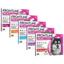 FRONTLINE TRI-ACT Flea Tick Lice Treatment Dog 3P