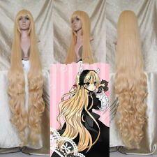 150cm Gosick Victoria Blonde Wavy Curly Stylish Long Cosplay Party Full Wig{D45}