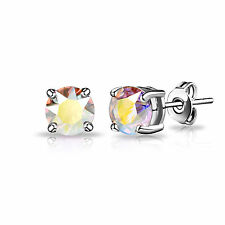 Aurora Borealis Shimmer Stud Earrings with Crystals from Swarovski®