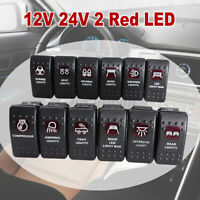 5-PIN RED LED LIGHT BAR ROCKER SWITCH ON/OFF CAR TRUCK ATV UTV OFFROAD PICKUP !