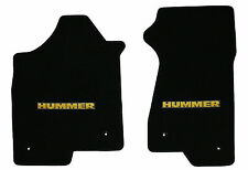 LLOYD Classic Loop FRONT FLOOR MATS with Yellow HUMMER logo fits 2003 to 2007 H2