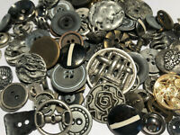 50 RARE MIXED LOT Of Metal Buttons OLD-VINTAGE & NEW