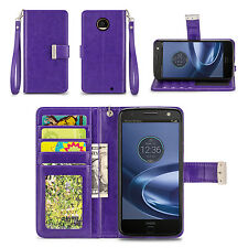 IZENGATE ID Cell Phone Folio Wallet Case Flip Cover PU Leather with Card Slots