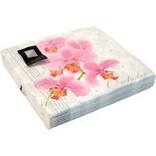 40 x Orchids 3 Ply Paper Napkins 33cm x 33cm Party Serviettes Tableware Luxury