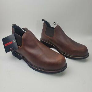 WOLVERINE Rancher Romeo Leather Work Steel Toe Boots Men's Size 11.5 EW 2E Wide