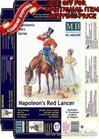 Master Box 3209 Napoleons Red Lancer Mounted on Horse & Maiden plastic kit 1/32